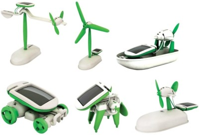 Littlegrin 6 In 1 Solar Robot Toy Kit Diy Science Model