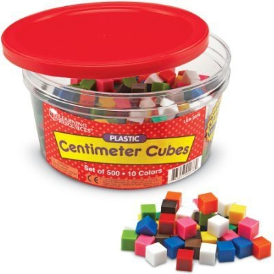 Learning Resources Centimeter Cubes, Set