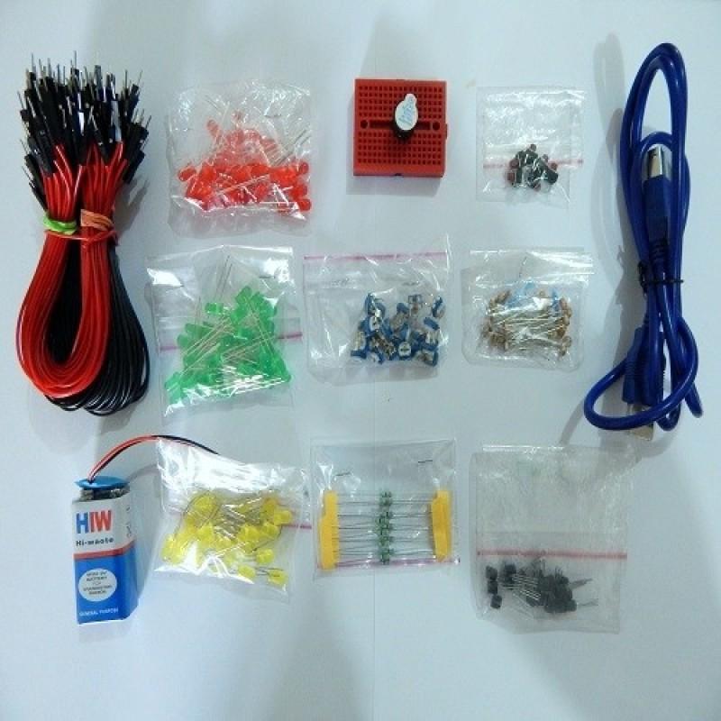 Adormi Arduino Uno With Accessories(Multicolor)