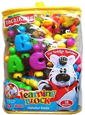 Turban Toys English Learning Blocks For Kids With Cartoon Figures