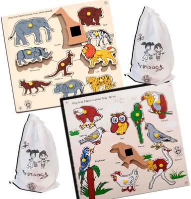 Skillofun MAGNETIC KING SIZE ID WILD ANIMALS + BIRDS(Multicolor)