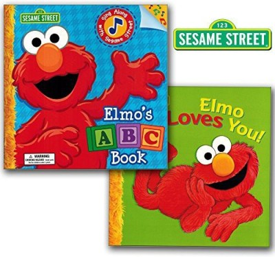 Sesame Street Elmo's ABC Book Sing Along and Elmo Loves You! (2 Book Set)
