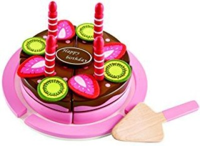 Hape Hape - Double Flavored Birthday Cake Wooden Play Food Set(Red)