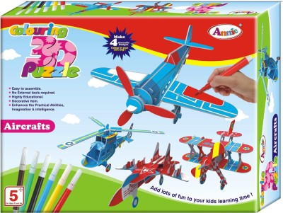 Annie 4 In 1 3D Colouring Puzzle ( Aircraft )
