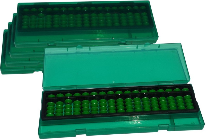Sae Fashions 17 ROD GREEN ABACUS KIT WITH BOX SET OF 5(Green)