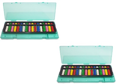 SAE FASHIONS Multicolor 17 Rod Abacus Kit With Box Set Of 2