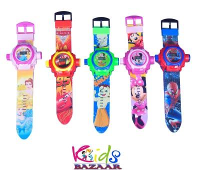 Kids Bazaar 24 images Projector Watch for kids,Best for Birthday & Return Gift set of 5(Multicolor)