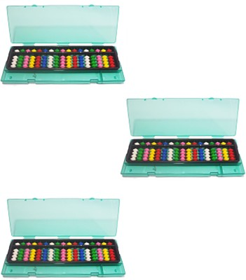SAE FASHIONS Multicolor 17 Rod Abacus Kit With Box Set Of 3