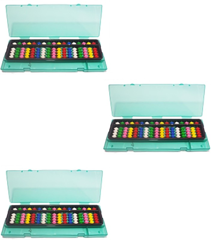 Sae Fashions Multicolor 17 Rod Abacus Kit With Box Set Of 3(Multicolor)