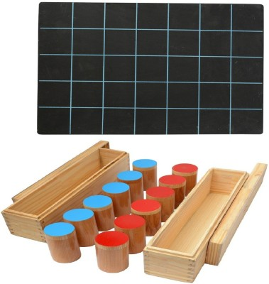 Aimedu Toy Combo Pack Of Wooden Sound Box And Slate With Duuster & Chalk For Kids Learning