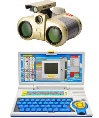 New Pinch Kids English Learner Computer toy with binocular toy