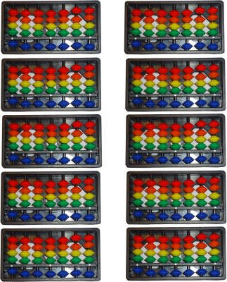 SAE FASHIONS Multicolor 7 Rod Abacus Kit Set Of 10