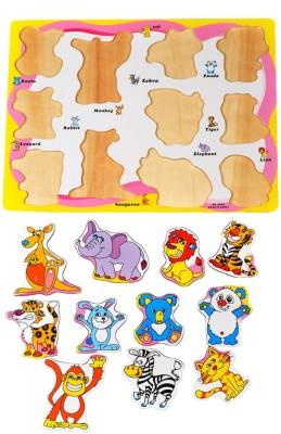 Priya Exports Animals Wooden Puzzle