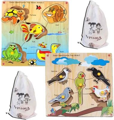 Skillofun JUNIOR ID WATER ANIMALS I + BIRDS I(Multicolor)