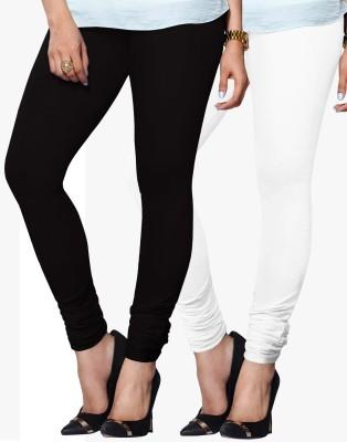 Zavlin Women's Black, White Leggings