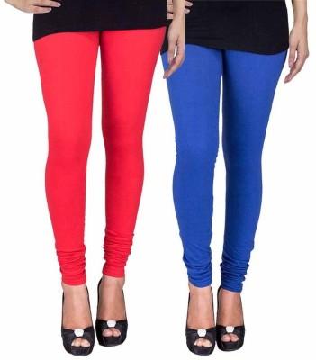 Ayesha Fashion Women's Red, Blue Leggings