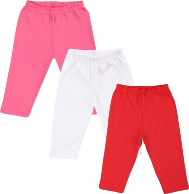 Color Fly Baby Girl's Pink, Red, White Leggings