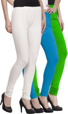 VENUSTAS Women's Light Green, Light Blue, White Leggings