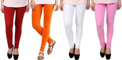 Legemat Girl,s Maroon, Orange, Pink, White Leggings