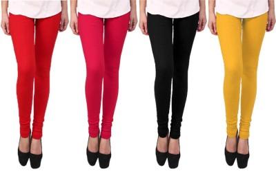 Escocer Women's Black, Red, Pink, Beige Leggings