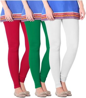 Nice Fit Women's Green, White, Red Leggings