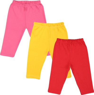 Color Fly Baby Girl's Pink, Red, Yellow Leggings