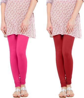 Oh Fish Women's Pink, Red Leggings