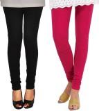 Famaya Women's Black, Pink Leggings (Pac...