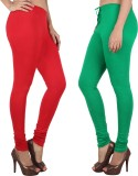 Danbro Women's Red, Green Leggings (Pack...
