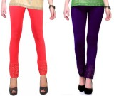 RobinRomeo Women's Orange, Purple Leggin...