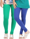 Be-Style Women's Blue, Green Leggings (P...