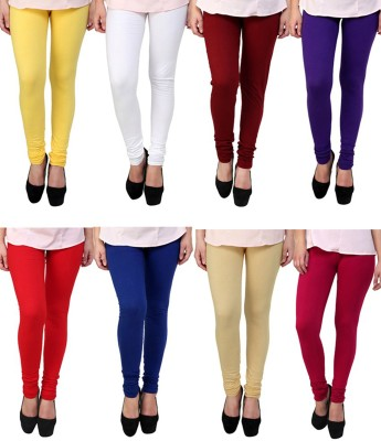 Shikha Women's Yellow, White, Brown, Purple, Red, Blue, Beige, Maroon Leggings