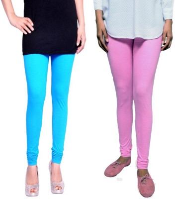 Tanunni Women's Light Blue, Pink Leggings