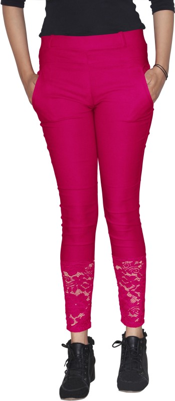 Xarans Women's Pink Jeggings
