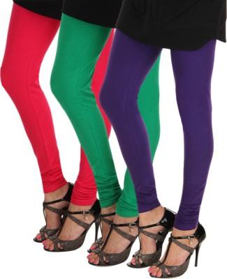 Itnol International Women's Pink, Green, Purple Leggings