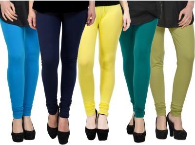 Kjaggs Women's Blue, Blue, Yellow, Green, Green Leggings