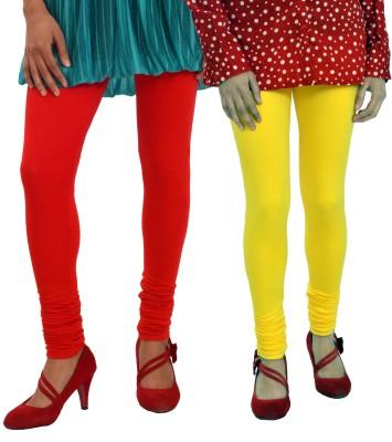 Femninora Women's Yellow, Red Leggings