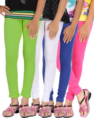 Be Style Girls Multicolor Leggings(Pack of 4)