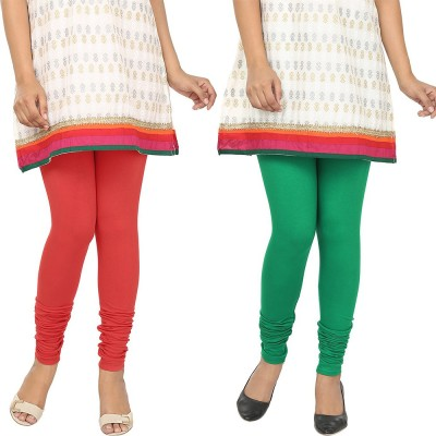 Agrima Fashion Women's Red, Green Leggings