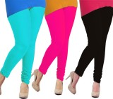 Tyra Women's Blue, Pink, Black Leggings ...