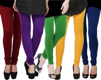 Kjaggs Women's Green, Yellow, Maroon, Purple, Blue Leggings