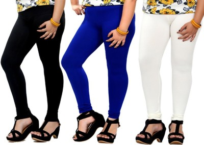 By The Way Women's Black, Blue, White Leggings