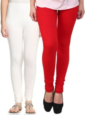 Hirshita Leggingss Women's White, Red Leggings