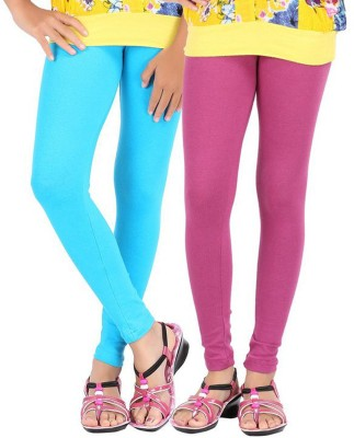 Shikha Women's Light Blue, Purple Leggings