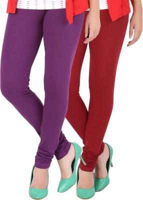 Dansik Women's Purple, Red Leggings