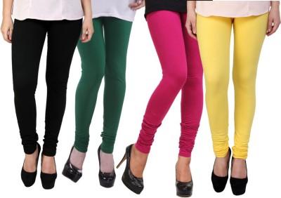 Dharamanjali Women's Black, Green, Pink, Yellow Leggings