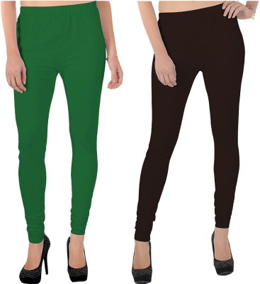 X-Cross Women's Green, Brown Leggings