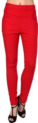 Silvercross Women's Red Jeggings