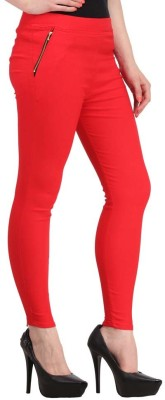 Fashion Arcade Women's Red Jeggings