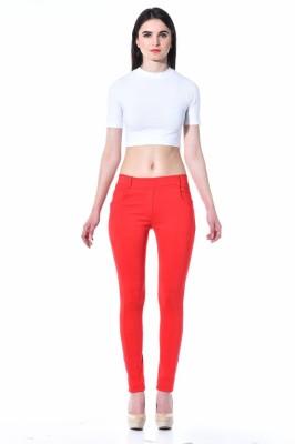TAB91 Women's Red Jeggings
